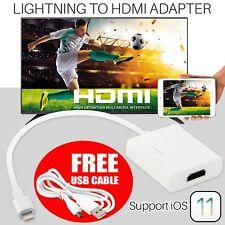Lightning A Hdmi Cable Adaptador digital de iPhone a la TV AV para iPad iPhone X/6 8Pin