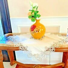 Lace Table Cloth, Floral, 36 x 36 Inch