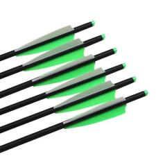 """20"""" Archery Carbon Crossbow Arrow Bolts Outdoor Hunting Field Points Practice"""