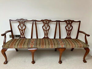 Chippendale style 3 seater settee