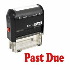 PAST DUE - ExcelMark Self Inking Rubber Stamp A1539 | Red Ink