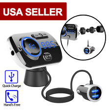 Car Bluetooth FM transmitter Dual USB Charger MP3 Radio Player HandsFree Adapter