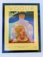 "4 VTG Art Deco 1970's Print Posters  Vogue Cover Spring & Summer 7 ""x 9"""