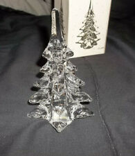 Solid Glass Christmas Tree Clear Handmade 5-3/4 Decor New Vintage