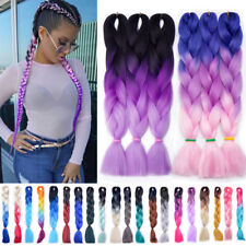 "24"" BRAID Ombre Lang Rastazöpfe Extension Twist Braids Jumbo Braiding Kanekalon"