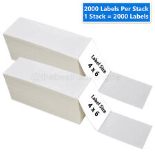 4 X 6 4000 Fanfold Direct Thermal Shipping Labels For Zebra Amp Rollo Printers