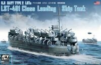 AFV Club 1/350 SE73519 WWII US Navy Type 2 LSTs LST-491 Class Landing Ship Tank