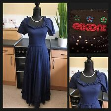 Genuine ELKONT : 1960's Vintage Hippie Prairie Oktoberfest Dress : UK 8/10