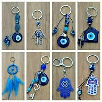 Llavero mal de ojo azul nuevo amuleto suerte hamsa nazar hombre mujer moda