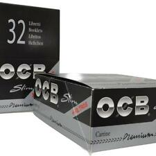 Full Box (32) OCB Premium King Size Slim Rolling Paper With Filter Tips