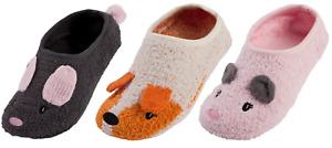 Womens 3D Animal Footlets Slipper Socks Novelty Fleece Bed Socks Ballet Slippers