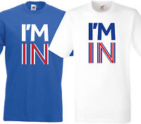 BRITAIN STRONGER IN EUROPE T-SHIRT | I'M IN | STAY REFERENDUM | EU | RED OR BLUE