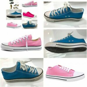 Womens Canvass Trainers Sneakers Shoes Lace Up Chuck Taylor jd/s etc UK 3 To 8.