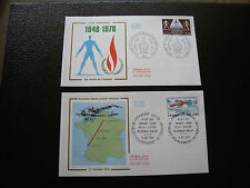 FRANCE - 2 enveloppes 1er jour 1978 (droi homme/villacoublay-paui) (cy89) french