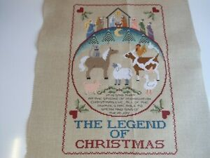 'The Legend of Christmas' Completed Cross Stitch