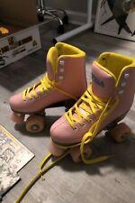 Impala Sidewalk Rollerskates - Pink/Yellow, Size 6