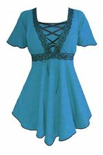 PLUS SIZE GOTHIC STYLE CORSET BLOUSE ASSORTED COLORS 1X 2X 3X 4X 5X