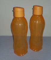 Tupperware ECO Easy Trinkflasche Set 2x 750ml orange NEU OVP