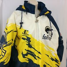 San Diego Charger's Jacket Men's Hooded Zip Up Vintage Puffy NFL Pro Line Size L