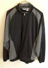 Slazenger Mens Quarter Zip Black/Gray Pockets Water/Wind Resistent Jacket-Size L