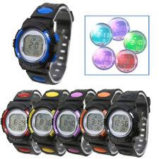Reloj pulsera deportivo digital LED Luz Fecha Alarma Niños Niños Niño Niñas De Regalo