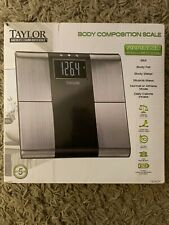 Taylor Body Composition Scale - Fat Water Bmi Athlete Mode Open Box