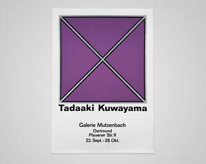 Vintage 1960s Tadaaki Kuwayama Modern Art Exhibition Poster - Japanese American