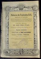 Motores de Explosion S.A. Barcelona 1959 unentwertet + Kuponbogen
