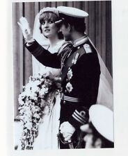 mm98 - Princess Diana as bride & Charles come out of St Pauls- Royalty photo 6x4