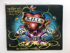 Ed Hardy Christian Audigier Love Kills Slowly clear one side plastic makeup bag