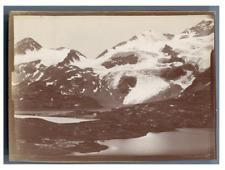 Suisse, Glacier de Cambrena Vintage citrate print.  Tirage citrate  7x9  C