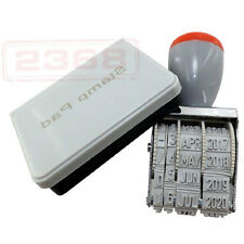 DATE STAMP AND BLACK INK PAD IDEAL STAMPING DATING CHICKENS EGGS - OFFICE