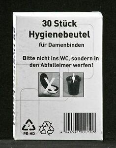 Hygienebeutel Bag Hygienetüten Kunststoff PE weiß 6 x 30 Stück = 180 Stück