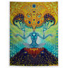 Trippy Colorful Tapestry Wall Hanging Mandala Bedspread Indian Home Decor