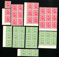 Egypt Stamps # M14-15 VF Lot of 24 OG NH Catalog Value $600.00