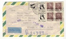 1969 Brazil --> Ecuador Registered cover -- free UK shipping -- 100% to charity