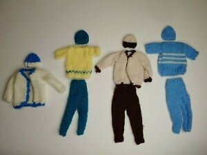 HUGE LOT-VINTAGE-BARBIE DOLL-Handmade/Hand knit-Clothing-Outfits