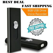 USB Mini Voice Activated Spy Recorder 8GB Small Audio Recording 13 hours Battery