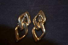 Plated Clip Earrings Authentic Couture Cacharel Gold