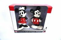 Disney Ceramic Salt and Pepper Shaker Shakers Classic Retro Mickey Minnie Mouse