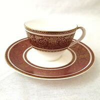 Royal Doulton Buckingham Demitasse Coffee Cup and Saucer H4971 First Quality