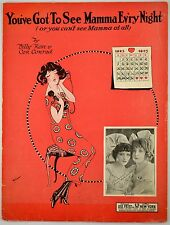 You've Got To See Mamma Ev'ry Night 1923 Vintage Sheet Music Art Nouveau