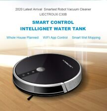 LIECTROUX C30B 14.4 V 0.6 L Cordless Wet/Dry Robot Vacuum Cleaner - Black