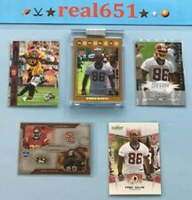 2008 FRED DAVIS Rookie Lot x 5 RC | Topps Chrome Gold Refractor /199 + Redskins