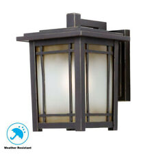 Home Decorators Port Oxford 1-Light Oil Rubbed Chestnut Outdoor Wall Light