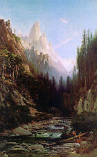 Oil painting Hill Thomas American Castle Craigs California scene Hand painted