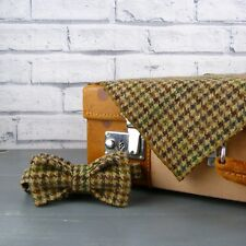Yorkshire Tweed Bow Tie and Pocket Square - Brown/Green Plaid