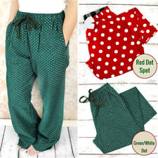 Dot Lounge Pants Pyjama Bottoms Trousers Cotton Nightwear Joggers Unisex Pants