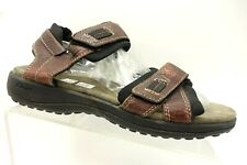 f78a8802b6b1 Clarks Brown Leather Casual Ankle Strap Walking Sandals Men s ...