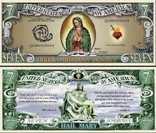 La VIERGE MARIE BILLET DOLLAR- Collection RELIGION Catholique Jesus Verset Bible